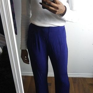 Vtg SOLD CHICOs electric blue palazzo pants MINT